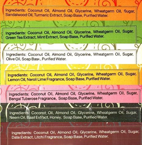 die Inhaltsstoffe der 7 Soil & Earth Seifen