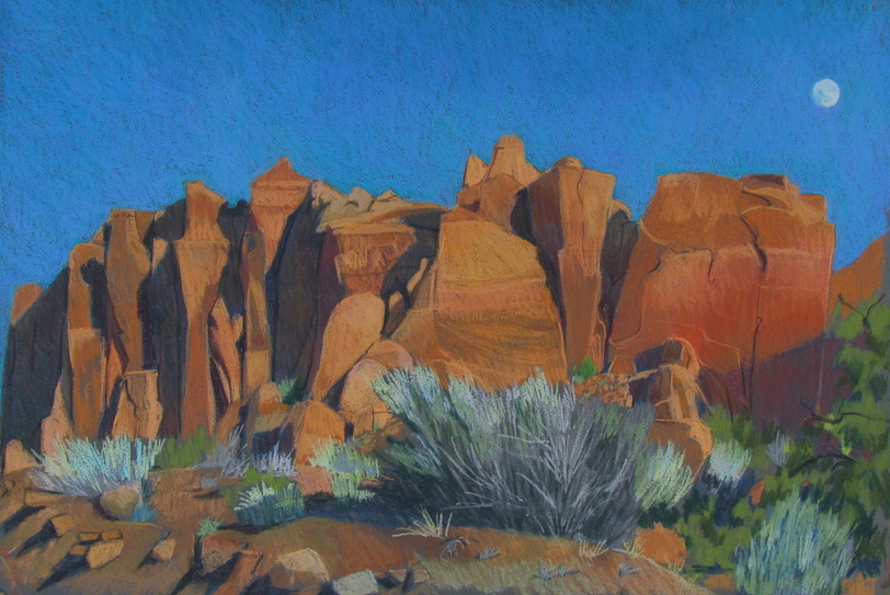 Long Canyon Pastel - Scotty Mitchell