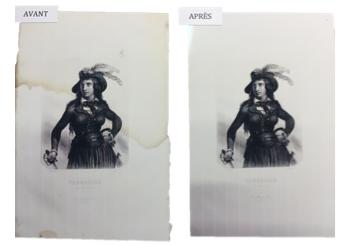 Nettoyage de gravure ancienne