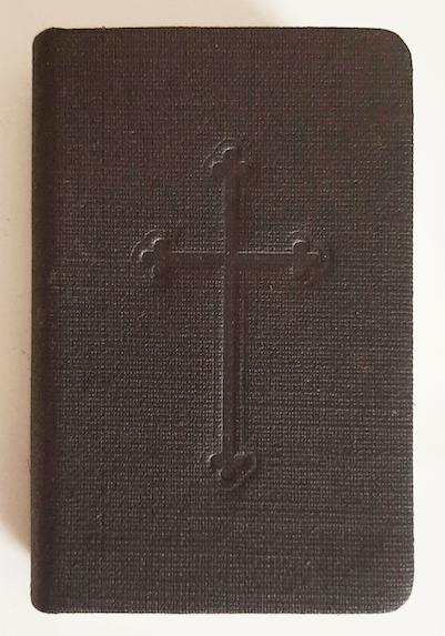 Missel en toile de lin, croix estampillée