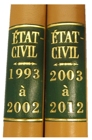 Restauration état-civil