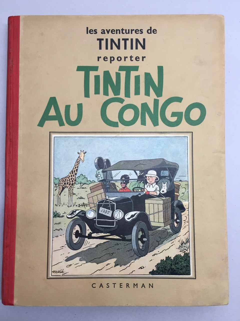 restauration Tintin, ( dos et coins )