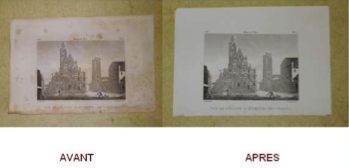 Restauration gravure, nettoyage .