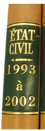 reliure état-civil MICHEL GOURDELIER