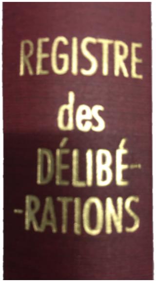 Registre des délibérations GOURDELIER MICHEL RELIEUR