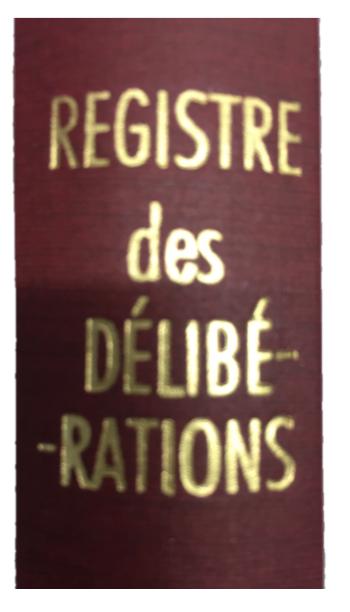 Registre délibération