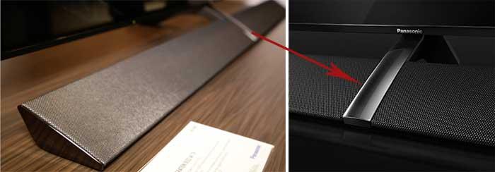 Speaker system «Dynamic Blade Speaker» of EZR1000 TV