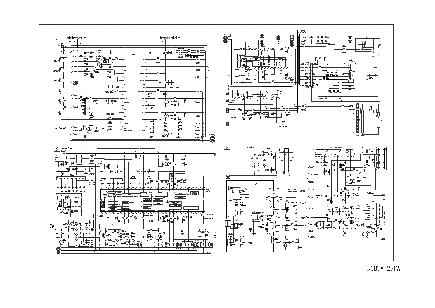 HAIER TV-29FA CIRCUIT DIAGRAM