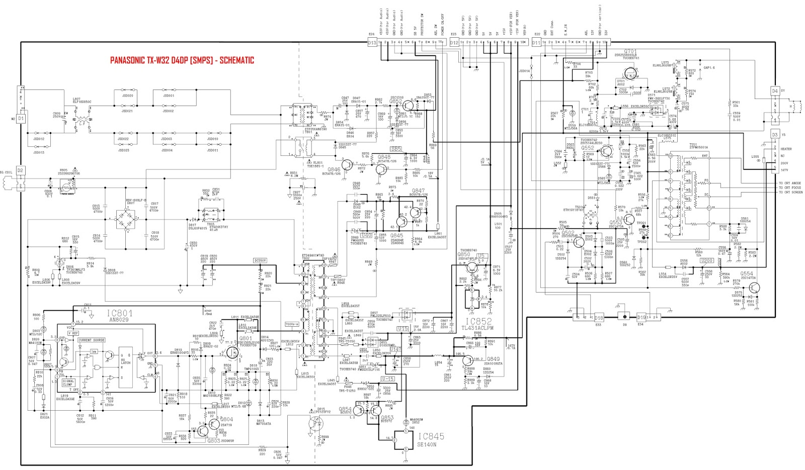 Panasonic Tv Circuit Board Diagrams  Schematics  Pdf Service Manuals  Fault Codes