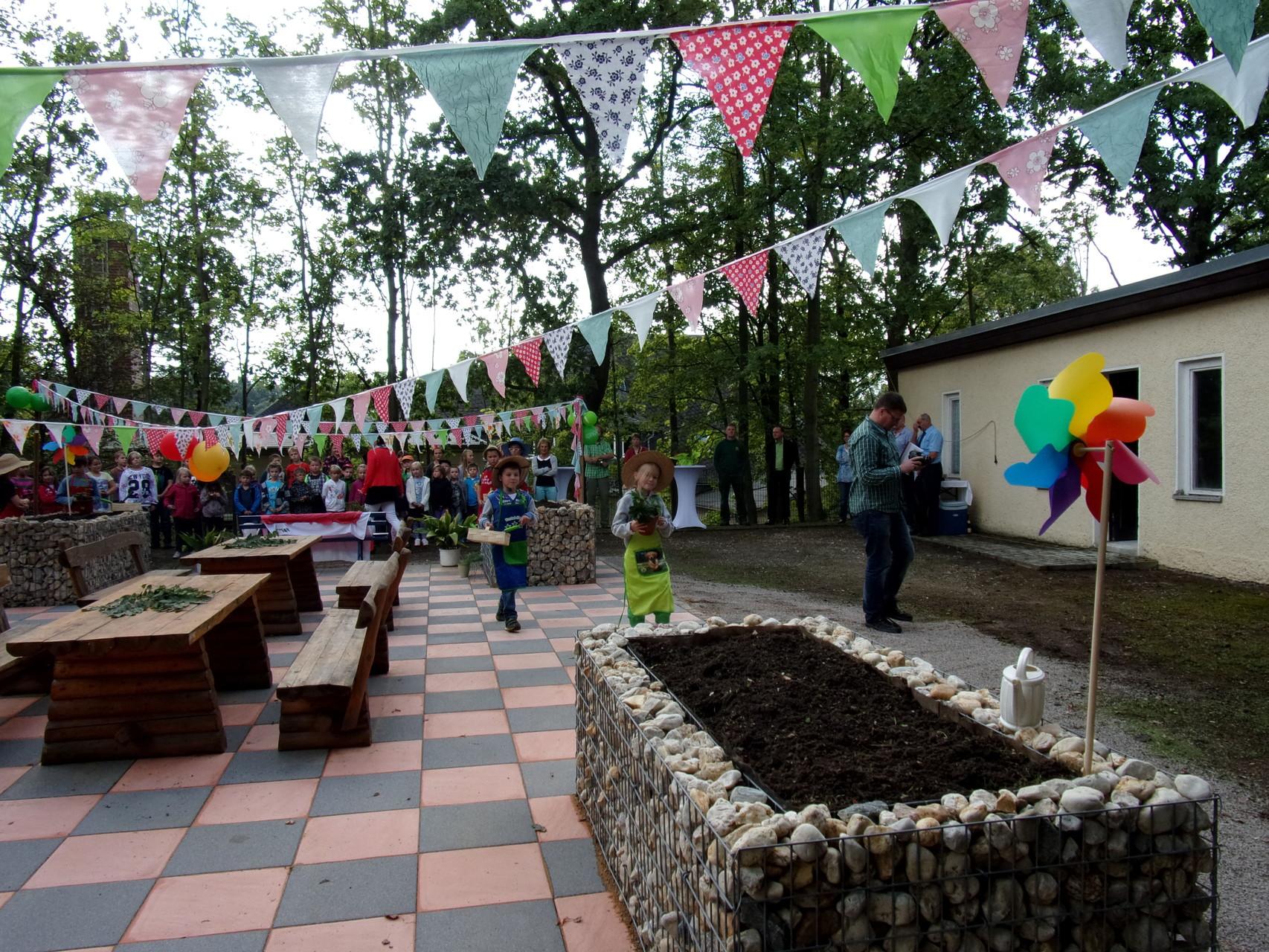 unser neuer Schulgarten
