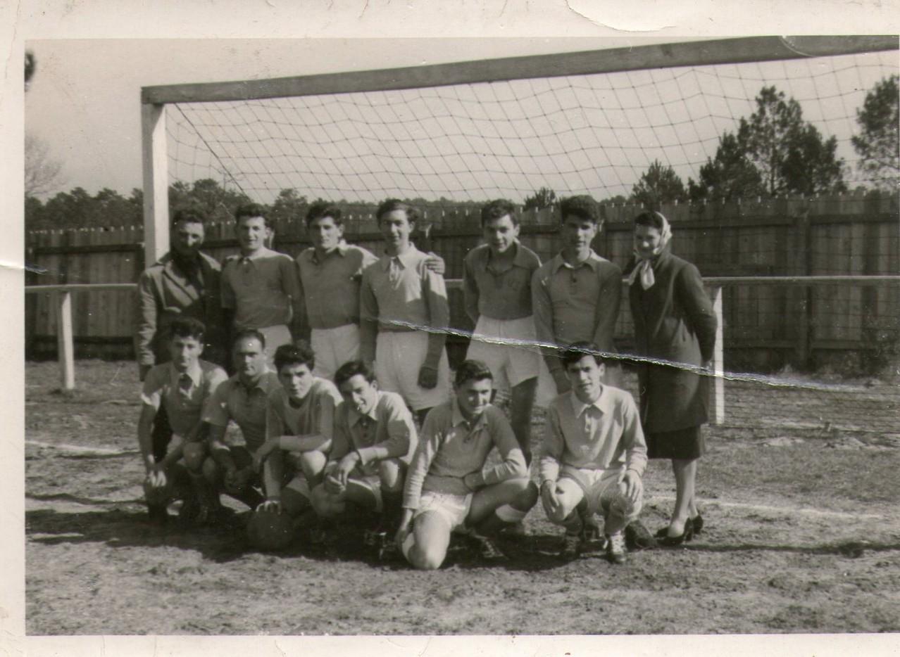 Equipe de foot de l'USB, années 50.