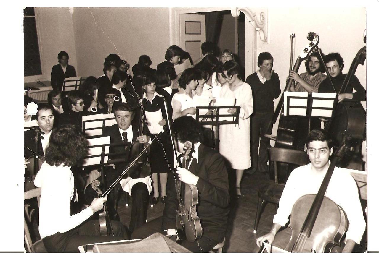 """La prima esecuzione al Conservatorio di Parma di """"Se questo è un uomo"""" nel 1976"""