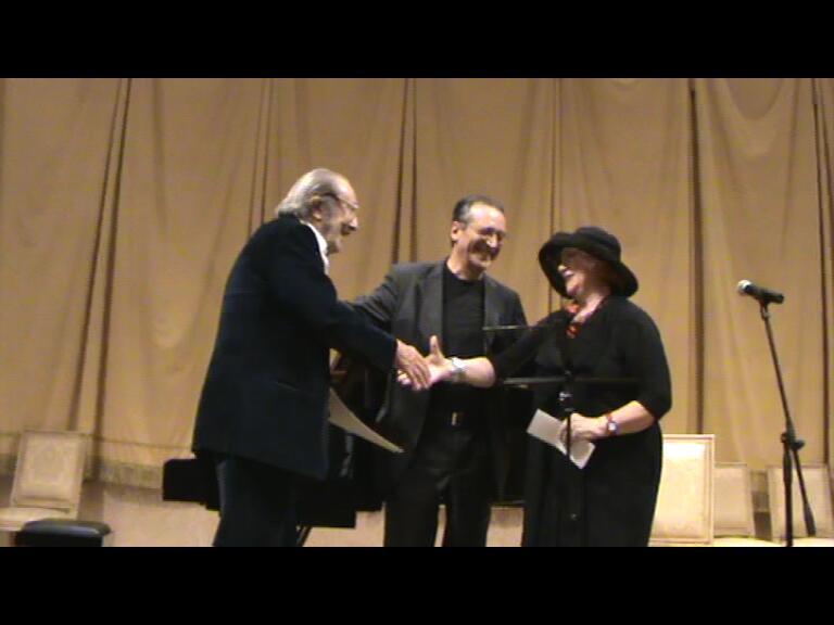 Con Marcello Conati e Evelina Schatz al Regio di Parma per la prima esecuzione di Mentre con Verdi