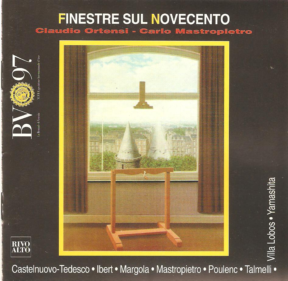 FINESTRE SUL NOVECENTO Rivo Alto CRR 9609 Claudio Ortensi- Carlo Mastropietro (flauto e chitarra Klinamen II