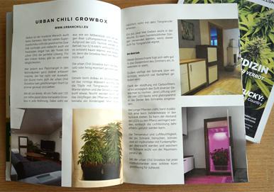 Erste Ausgabe - Hanf Magazin - urban Chili Growbox