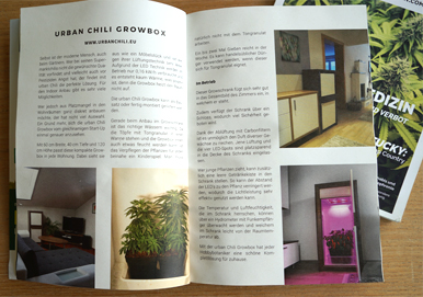 urban Chili Growbox - in the Hanf Magazin 1.  edition