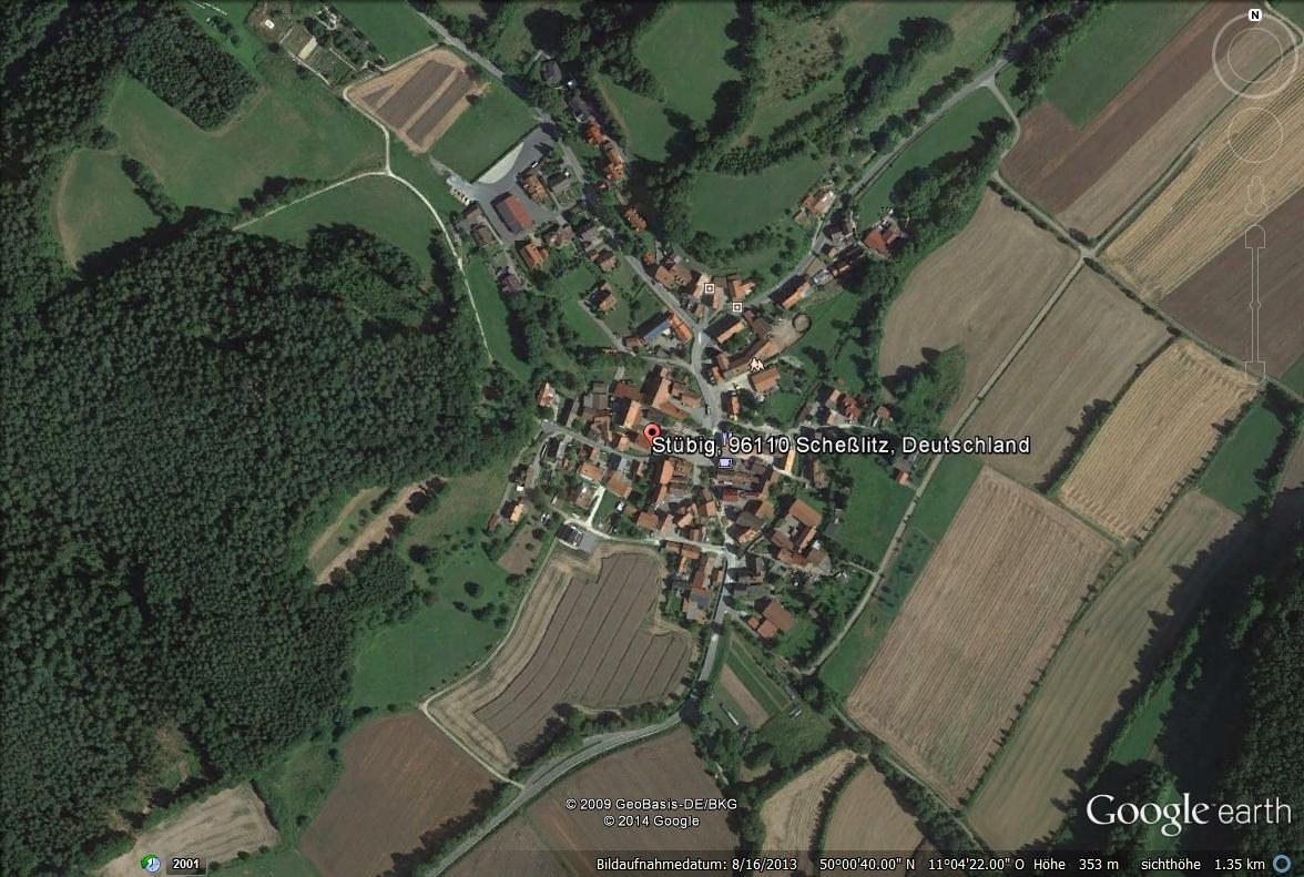 Der Ort im Satellitenbild von Google Earth