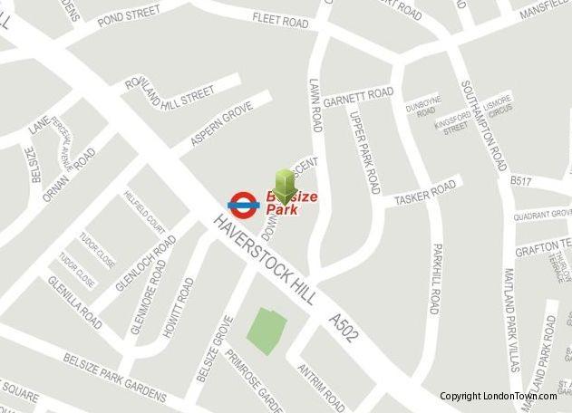 Möglicherweise Ottos letzte Adresse bis 1944: Downside Crescent  (London Town)