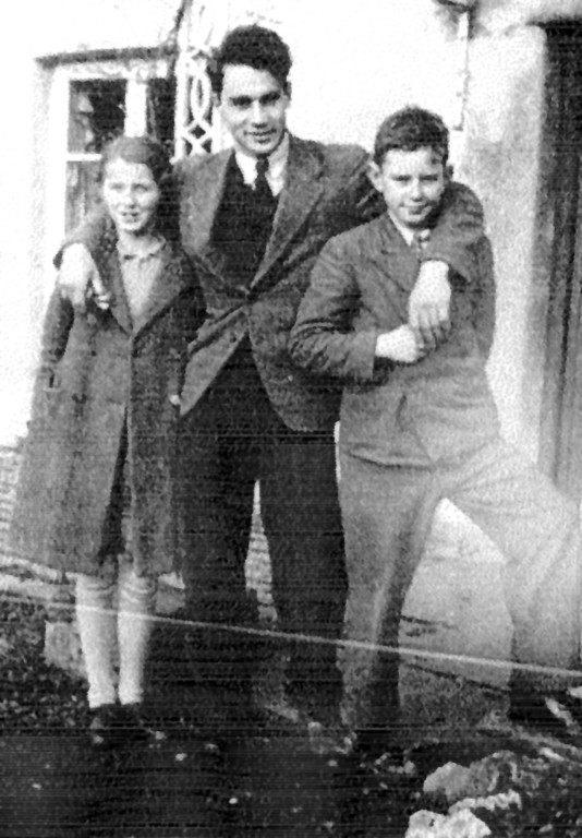 Otto mit den Kindern Norrie und Rosemary