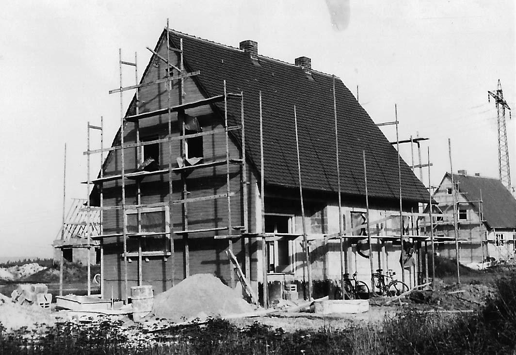 Baufortschritt im Jahr 1960