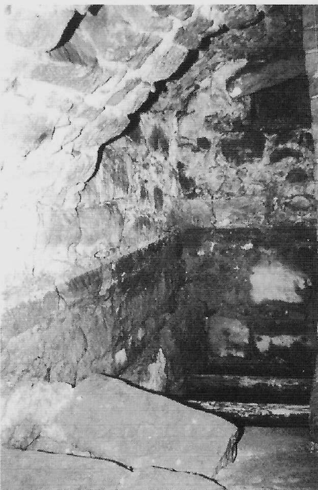 Treppenabgang zur 1987 entdeckten Mikwe aus dem Jahr 1540. Die Anlage hatte sich erhalten, weil die Kellerräume nach einem Besitzerwechsel 1876 verfüllt wurden.