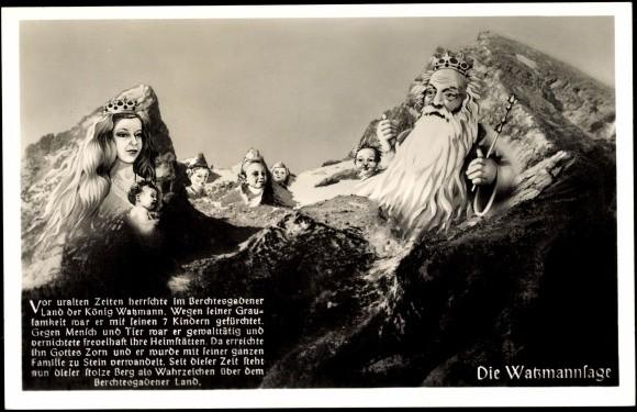 Darstellung des König Watzmann mit seiner Familie aus der Zeit unseres Aufenthalts