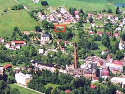 Heutige Luftbild-Ansicht Fleißen-West mit markierter Moritzenhof-Lage
