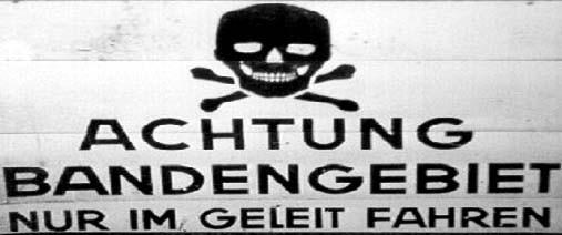 Hinweisschild der Wehrmacht 1944/45