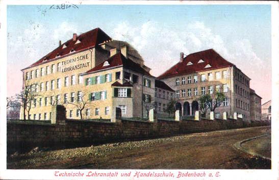 Schule in Bodenbach bei Aussig, Böhmen