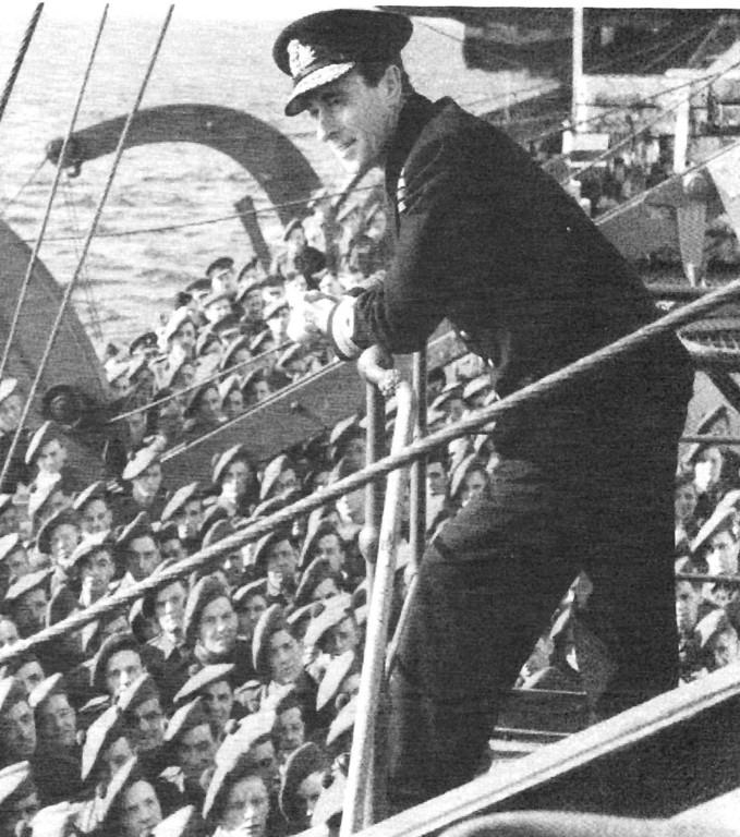 Lord Louis Mountbatten mit  Männern des 6 Commando