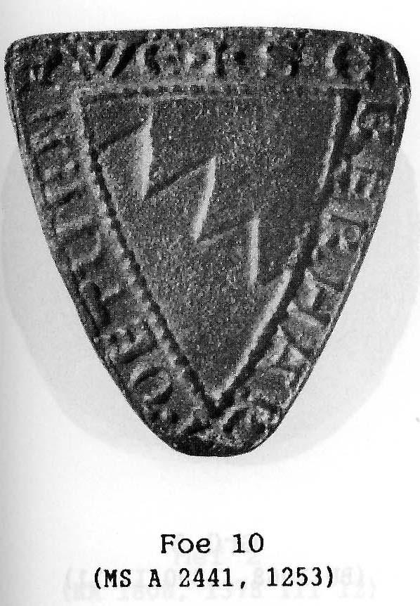 Älteres Beispielsiegel der Förtsch. Die Ähnlichkeit der Wappenbilder deutet darauf hin, dass die Stübig von den Förtsch abstammen.