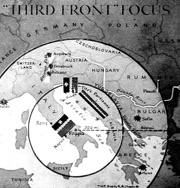 """""""Die Dritte Front"""", Sommer 1944: Alliierte in Italien kurz vor dem Fall Roms im Juni und Partisanen-Aktivitäten auf dem Balkan"""