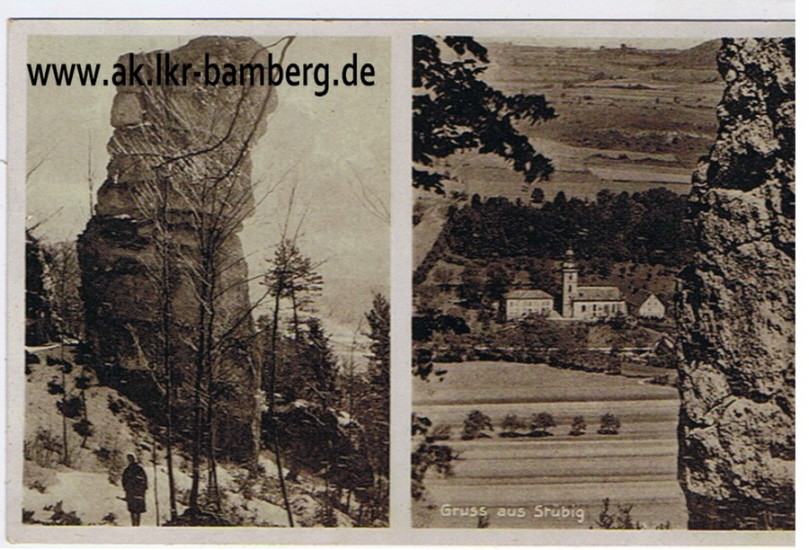 Die Felsformation des Großen Rothenstein als altes Ansichtskartenmotiv...