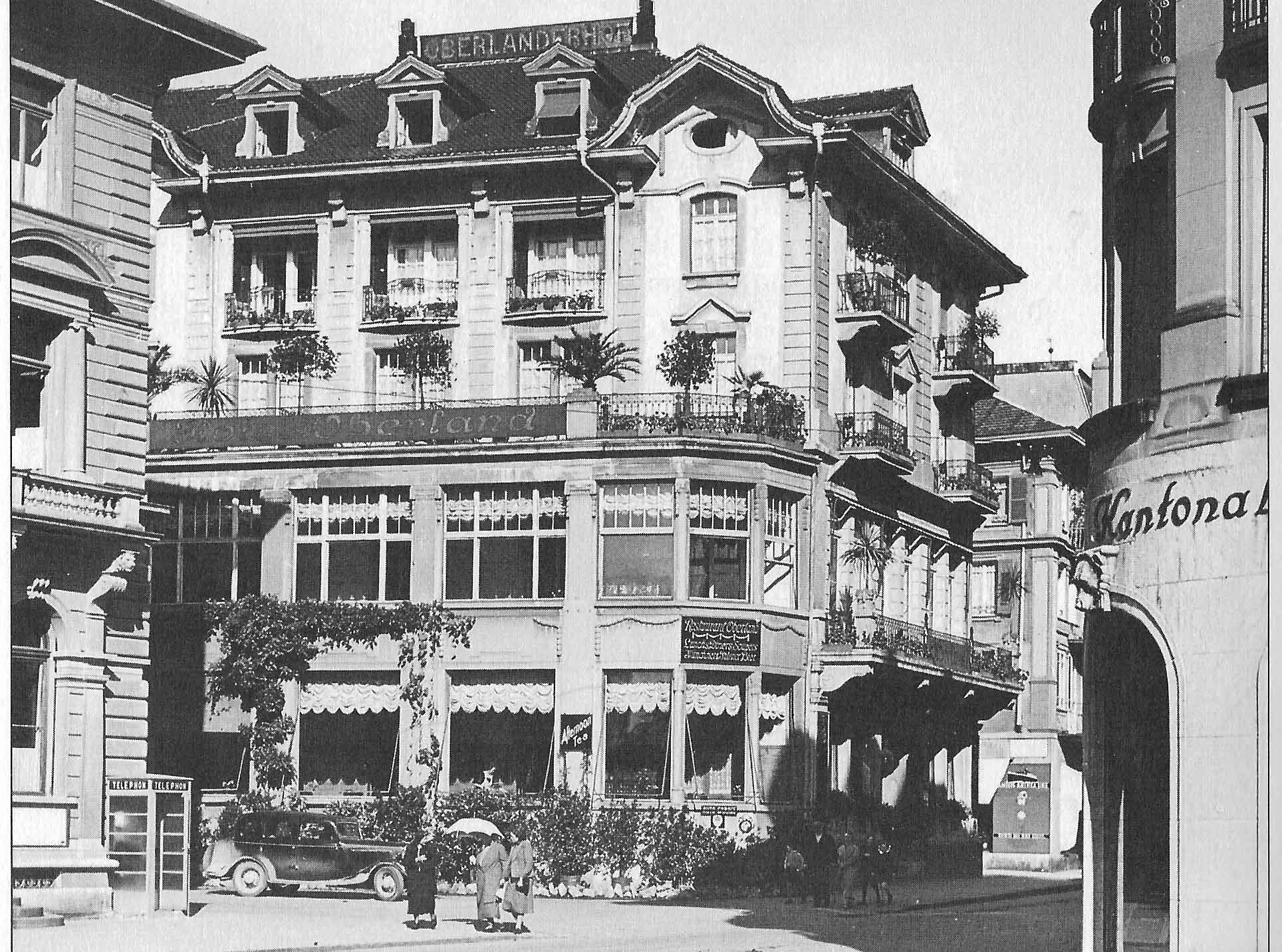 Hotel Oberland in Interlaken, um 1940 (Christoph P. Reber)