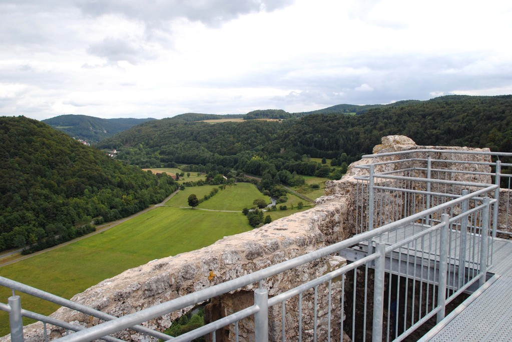 Blick von der Wohnturm-Ruine