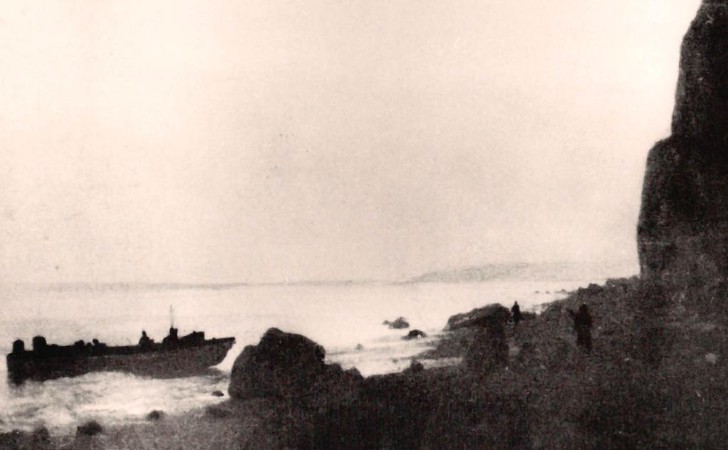 Commando-Landungsboot bei Flankenangriff auf Dieppe