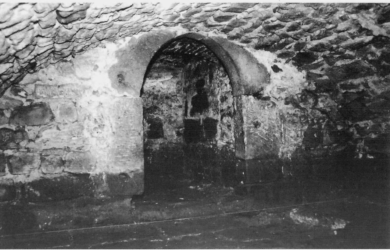 Der Keller des Anwesens, das 1987 abgerissen und vorher archäologisch untersucht wurde
