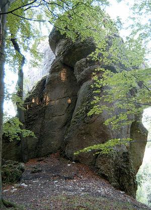 Natur- und Kulturdenkmal: der Große Rotenstein