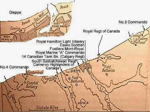 Die Dieppe-Operation: beteiligte Truppen und Angriffsziele