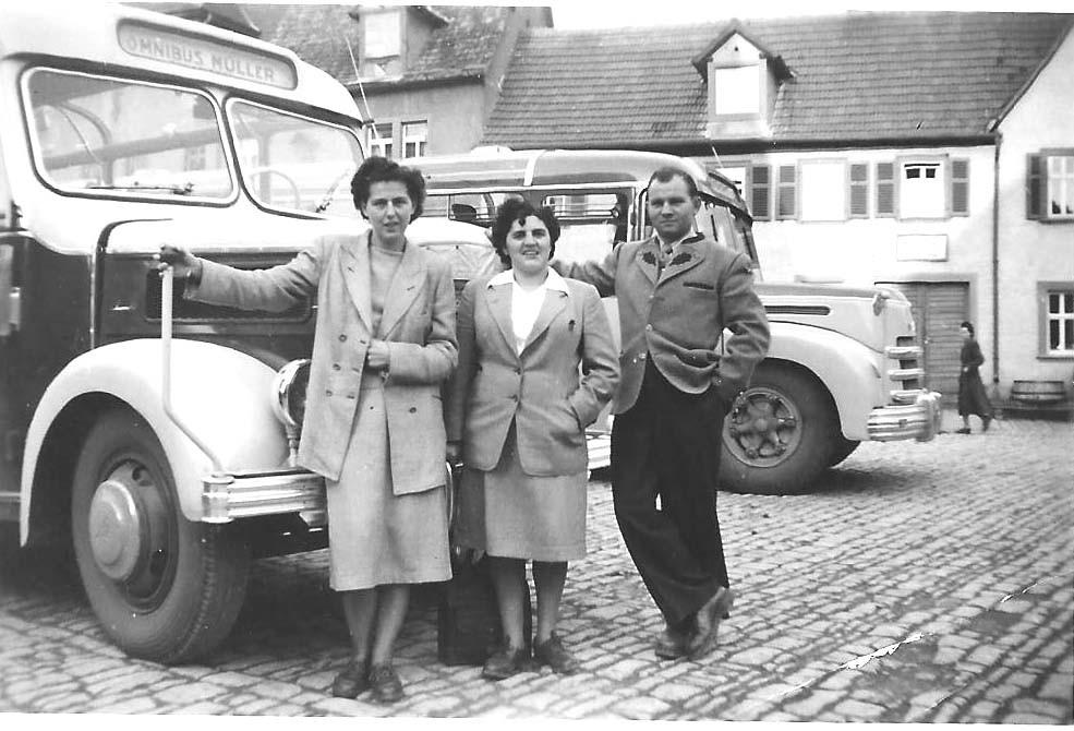 Bus-Ausflug nach Unterfranken - mit Onkel Otto Geißer und dessen Frau Sannah