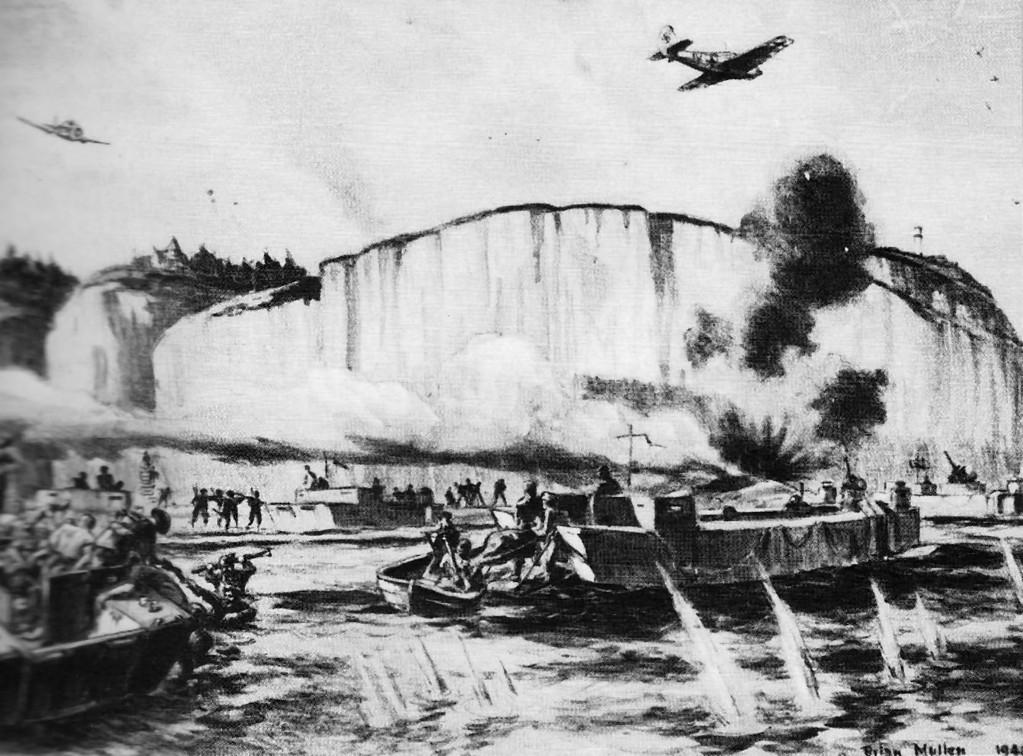 Frontalangriff auf Dieppe, August 1942