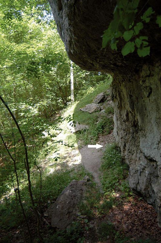 Markierung einer der Sondagegrabungen aus dem Jahr 2009 am Großen und Kleinen Rothenstein, die schon 2003 als vorgeschichtliche Kultplätze erkannt worden waren.