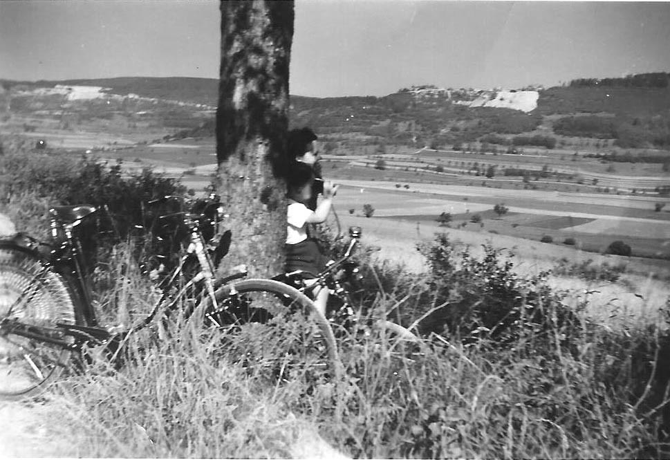 Ausguck bei einem Fahrrad-Ausflug zum Hetzles