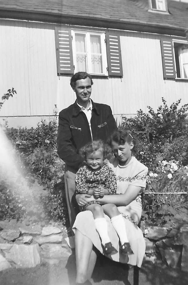 Mein Pate Fritz Schiener in Marktredwitz mit Frau und Tochter Gabi
