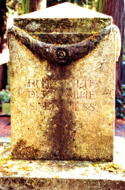Hess-Familiengrab auf dem Nordfriedhof in Wiesbaden