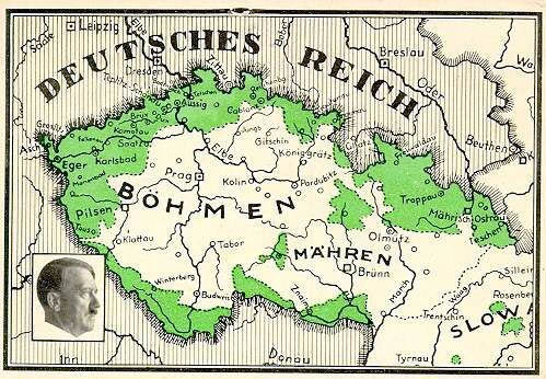 Das annektierte Sudetenland 1938