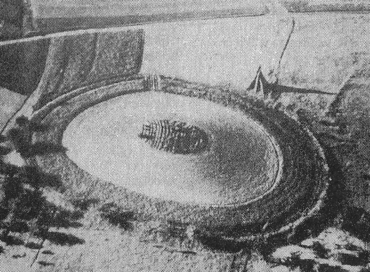 BLfD-Luftbild vor 1959, Foto: Strähle-Schorndorf. Hier zeigt sich noch so etwas wie ein flacher Ringwall.