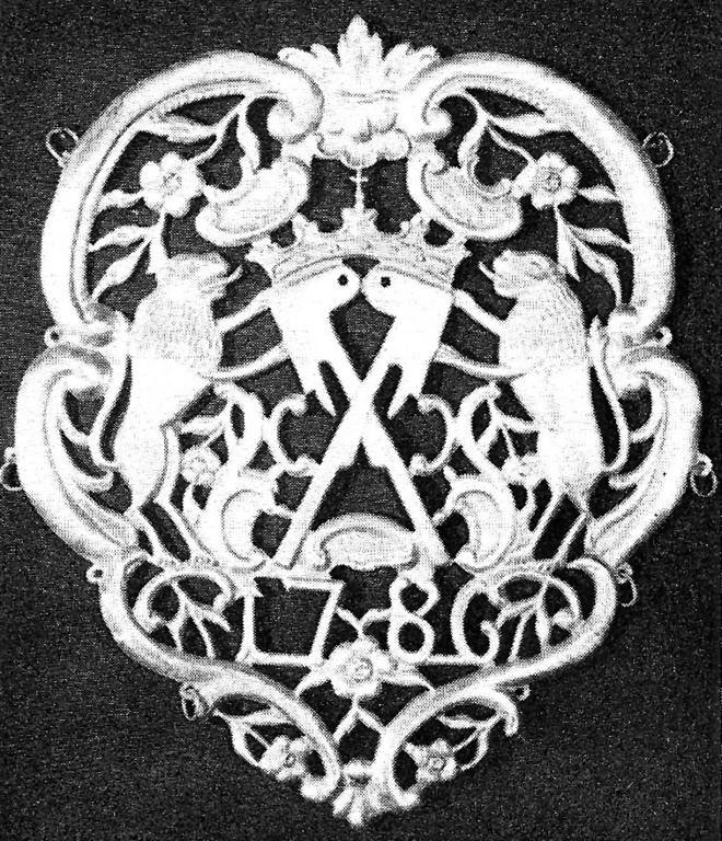 Strumpfwirker-Zunftzeichen 1786