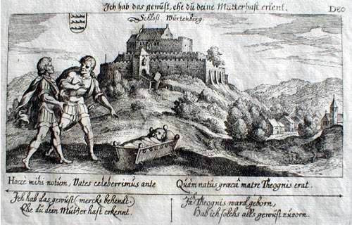 """An der Stelle des Mausoleums stand bis 1820 die Burg """"Wirtemberg"""", der Stammsitz der Württemberger."""