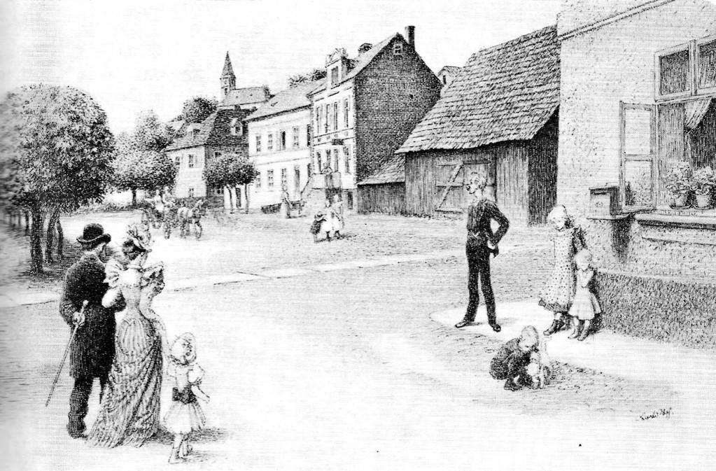 Marktplatz Fleißen  1891